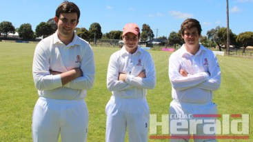 SPECIAL: Zac, Sam and Kade Parker played their first Division One game together.