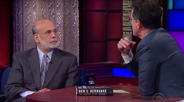 Ben Bernanke on The Late Show with Stephen Colbert