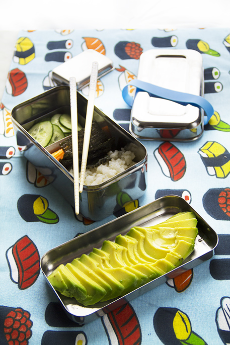 california roll bento