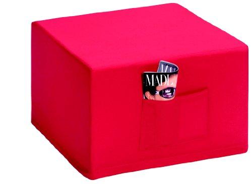 Badenia Bettcomfort 03610114502 Madrid – Futón convertible en asiento, color azul oscuro con funda roja [Importado de Alemania]