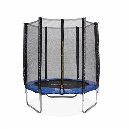 Alice's Garden – Cama elastica, Trampolin de 180 cm, Azul, altura de la red de seguridad 150 cm – Cassiope