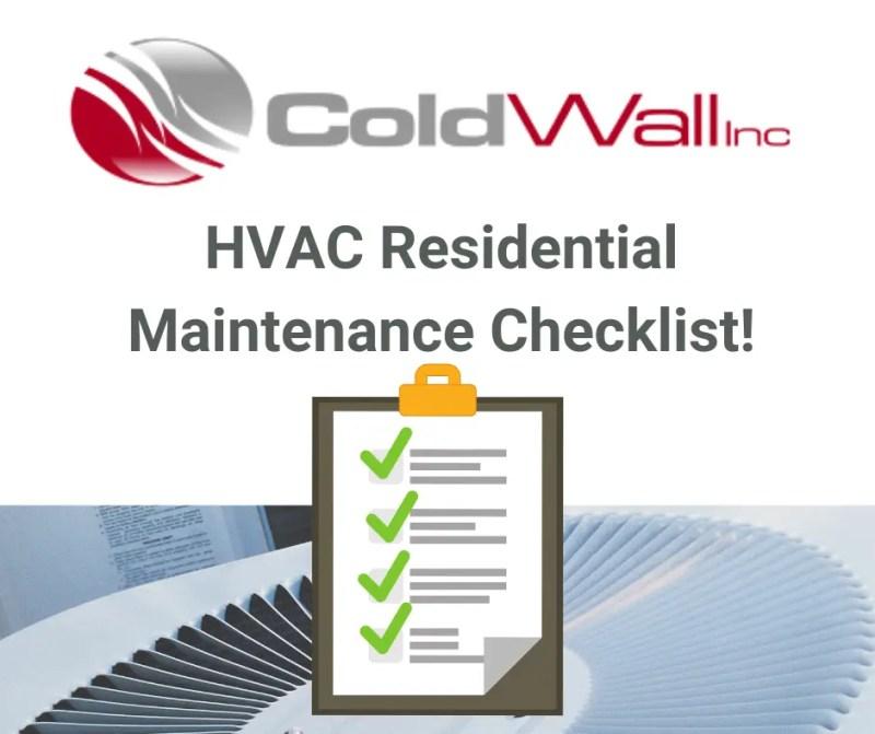 HVAC Maintenance Checklist