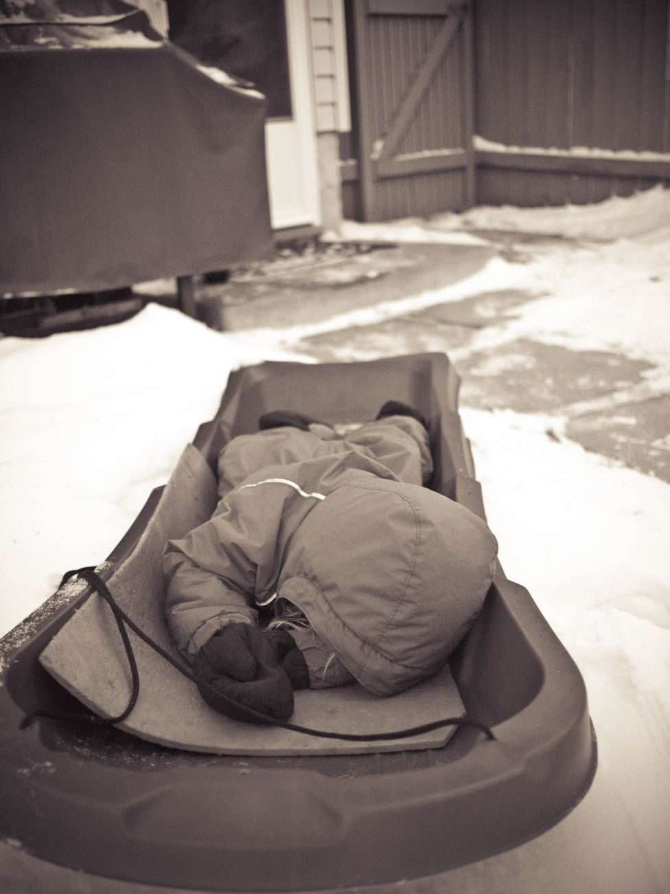 sleeping outside at -30ºC (on a camping mattress for warmth)