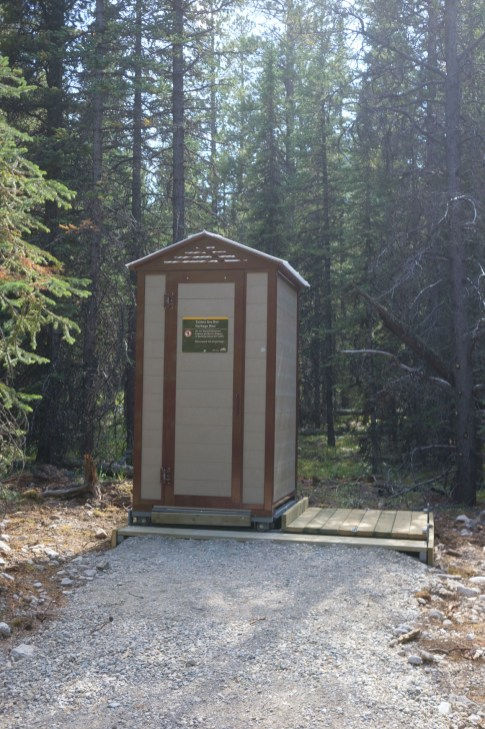 The fancy new outhouse at Romulus