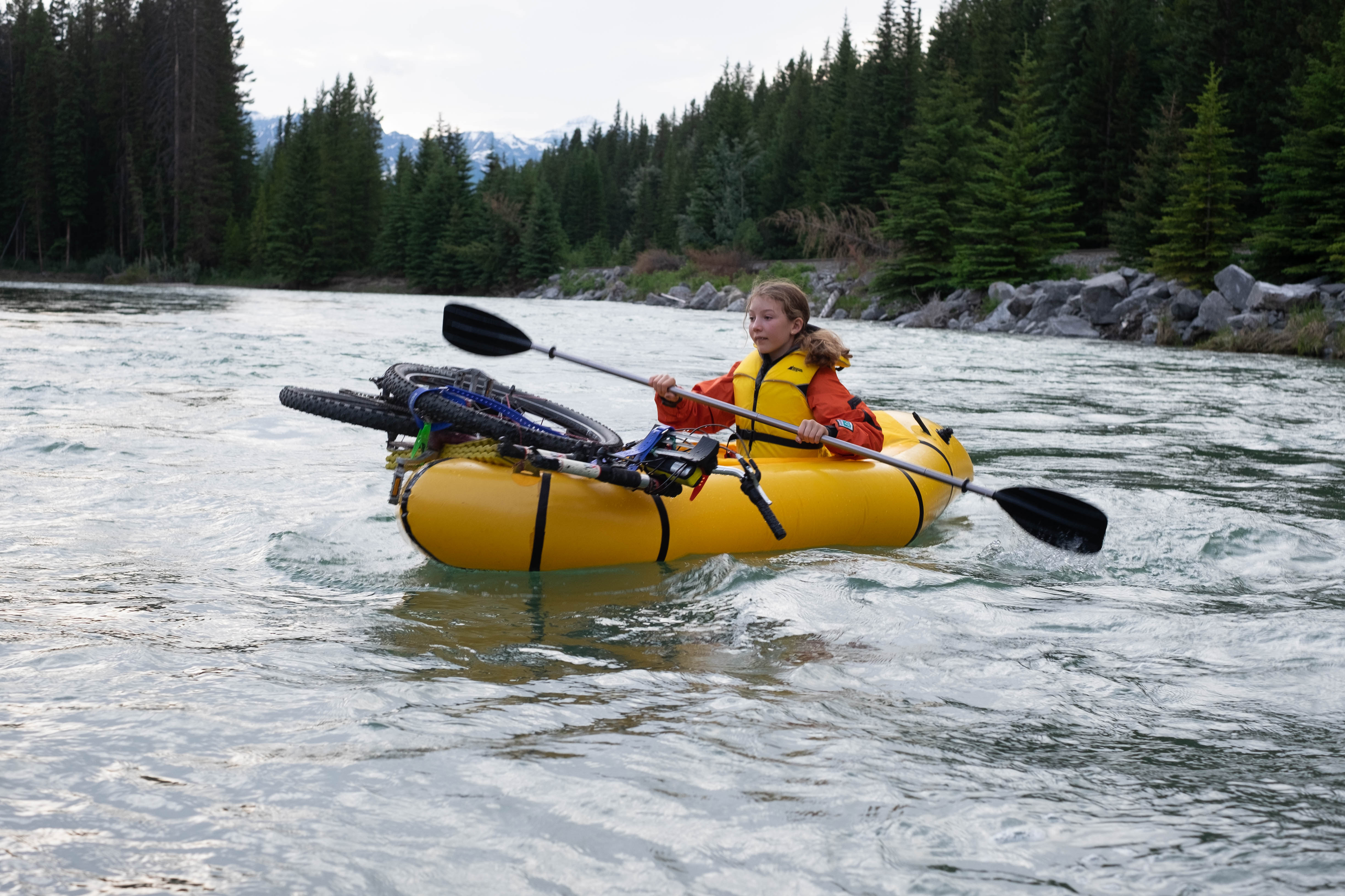 Solstice Weekend Bikerafting Overnight on the Bow River