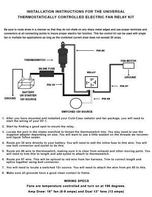 Fan Relay Wiring Diagram   Wiring Diagram