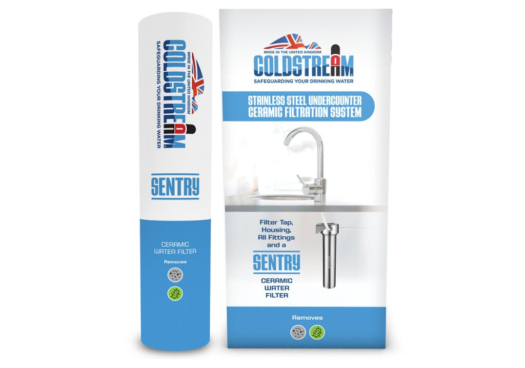 Coldstream undercounter stainless steel system with sentry filter. countertop water filter Best filters on the market.UK made.Free next day UK delivery.Carbon neutral. Removes more contaminants