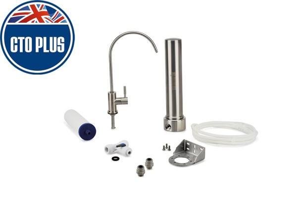 Sistema sotto-lavello in acciaio inox con filtro cto plus