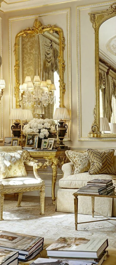 Gold, Coral & Cream Living Room Home Decor Ideas - Gypsy Soul