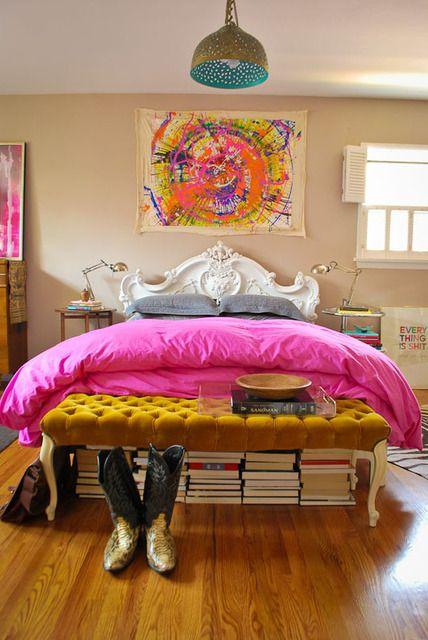 boho boutique hotel bedroom
