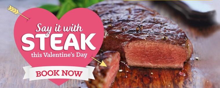 say it with steak Valentine's Day