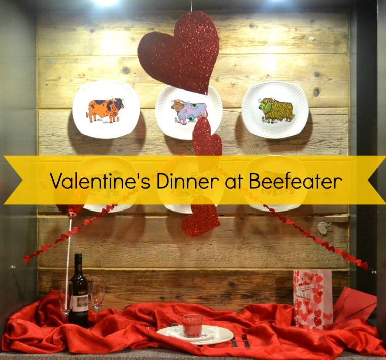 valentine's dinner at Beefeater