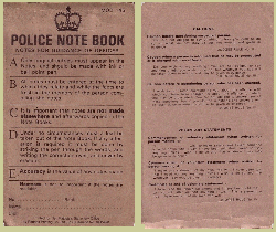 Image result for policeman's notebook and pencil
