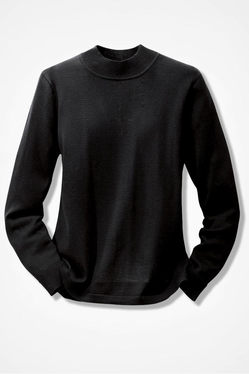 Silk Cotton Mockneck Sweater Sweaters Coldwater Creek