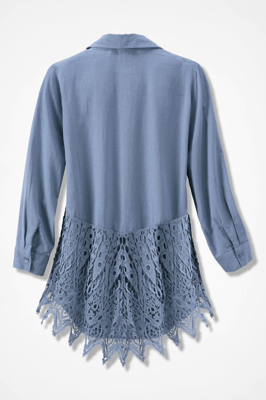 Crochet Back Shirt Coldwater Creek