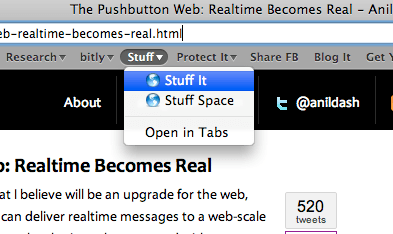 The One Button Web