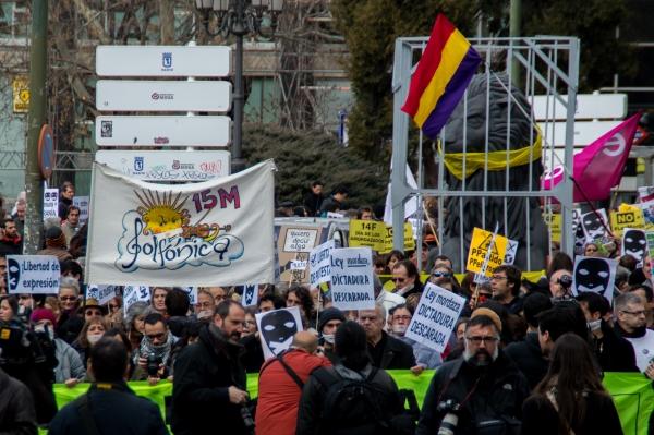 Manifestacion contra le ley mordaza 10