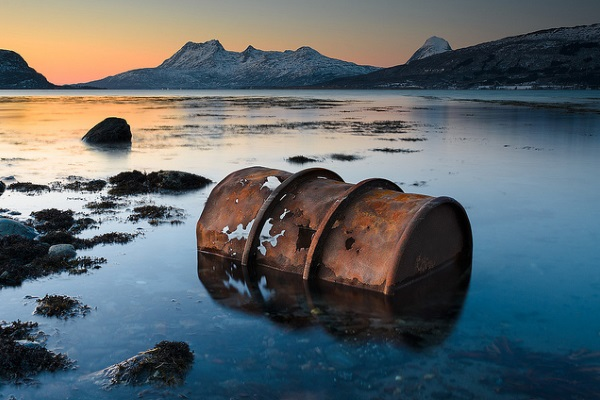 Barril de petroleo por Kenneth Solfjeld