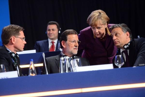 Merkel y Rajoy por European Peoples Party