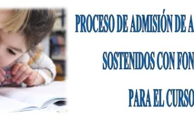 Aplazamiento proceso de admisión 2020/2021
