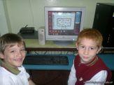 Primer grado en Sala de Computacion 17