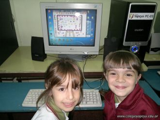 Primer grado en Sala de Computacion 45