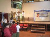 Acto por el Dia de la Bandera en Primaria 3
