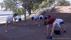 Entrenando para Rugby en la Costanera 5