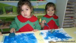 Pintando en Salas de 3 4