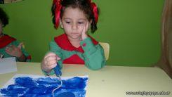 Pintando en Salas de 3 9