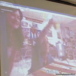 Skype con el North Cross School 19