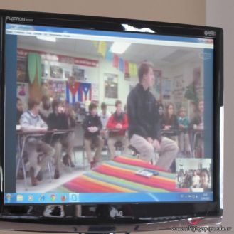 Skype con el North Cross School 9