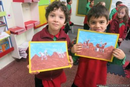 Pintando el cruce de los Andes 91
