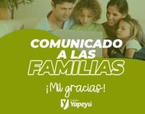 Comunicado Familias - 1º semana Ed. Virtual