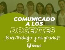 Comunicado a los Docentes - 1º Semana Ed. Virtual