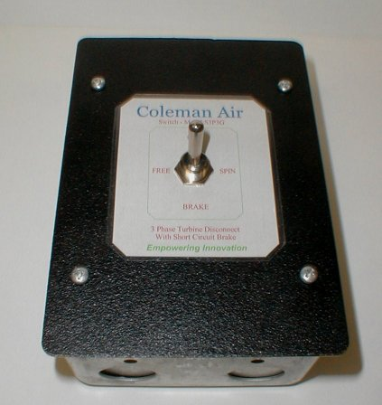Coleman Air 3 Phase Turbine Switch With Brake S3p3g