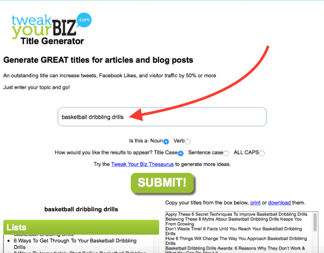 How to create a blog title | Tweak Your Biz Title Generator | How to Start an Online Business from A to Z – Antonio's Complete Step by Step Tutorial