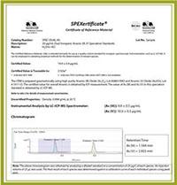 SPEX certificate CoA