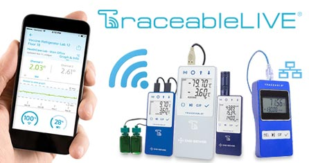 WiFi USB Traceable temperature data loggers