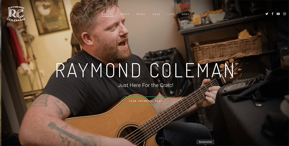 Raymond Coleman Site Preview