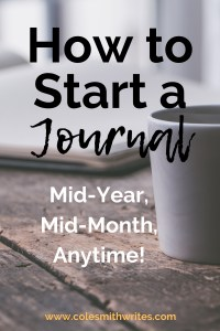 Here's how to start a journal any time|