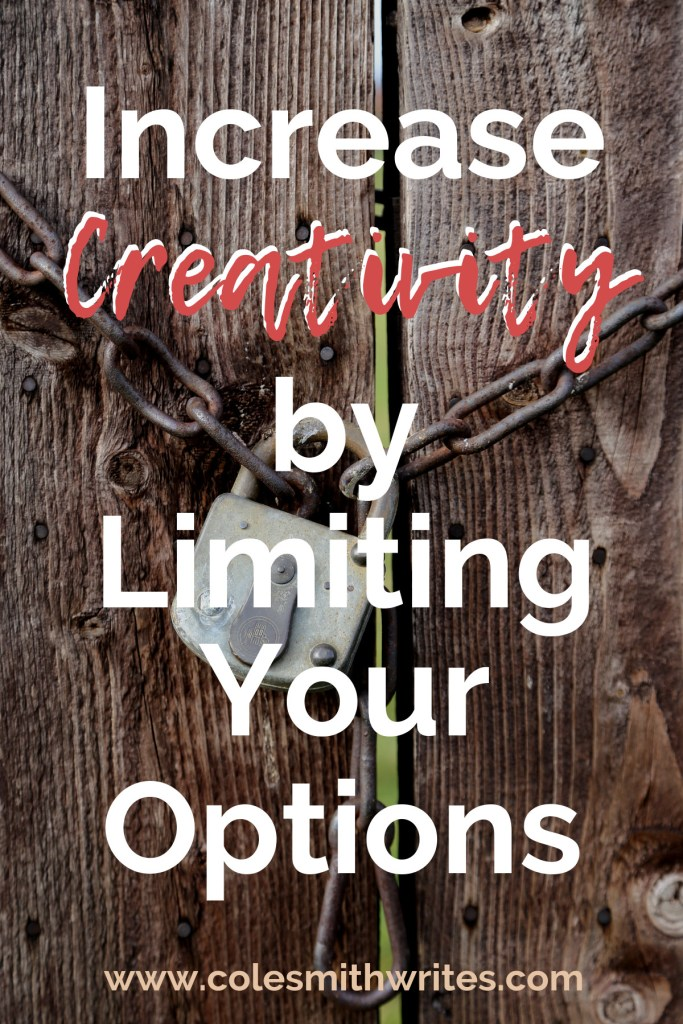 Learn how to increase your creativitiy by limiting your overwhelming options--> | #productivity #creativeinspiration