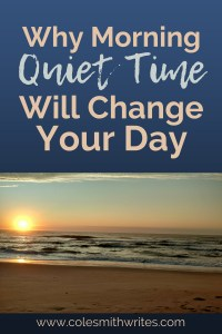 Find out how morning quiet time will change your day! | #getmoredone