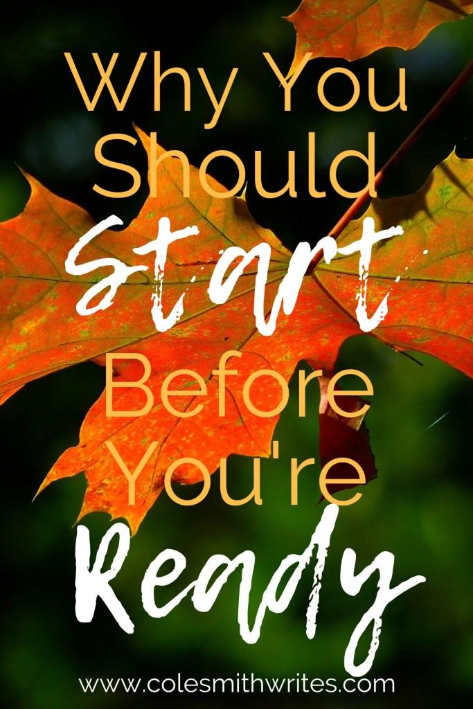 If you wait 'til you think you're ready, you'll never take off! | #writersunite #doitscared #launch #writinghelp #writingadvice #motivation #writingtips #fiction #writersworkshop #buildconfidence #amreading #amwriting #screenwriting #scriptwriting #indieauthor #tipsandtricks