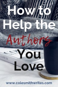 Want to help the authors you love? Here's how: