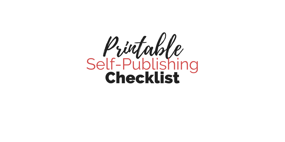 Free Printable Self-Publishing Checklist | Cole Smith Writes