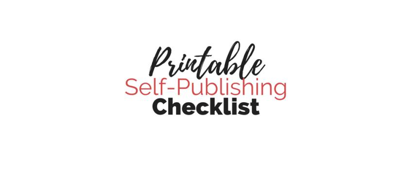 Free Printable Self-Publishing Checklist | Cole Smith Writes
