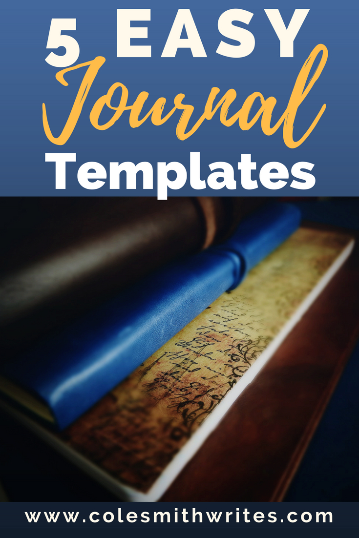 Want to journal but think you won't have time? Keep up with your journal with these five easy journal templates. Each takes only a few minutes to do. #journaling!   #writing   #bujo   #writemore   #paper