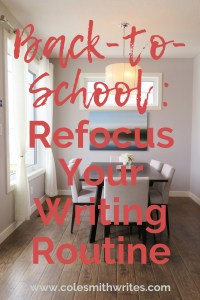 Help for when it's time to refocus your writing routine   #organization #write #writers #screenwriters #writersunite #writinglife