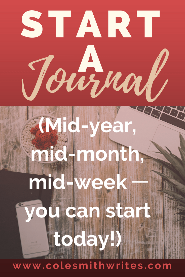 You don't have to wait for a new year to start a journal! | #journaling #writersjournal #journalingforwriters #writersblock #writinginspiration #creativewriting #bulletjournal #writingmotivation #bujo #templates #plan #writestuff #organize #life #bloggers #blogging